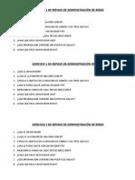 11.- Ejercicios 1 y 2 de Repaso de Administracion de Redes