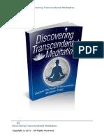 Discover Tanscendental Meditation