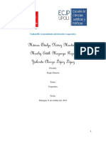 Generalidades del derecho de cooperativa 2019