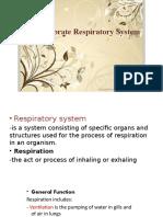Comparative Anatomy of Respiratory System