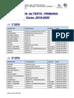 Libros de Texto EPO 19-20