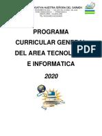 Presentacion Curricular Informatica y Tecnologia 2020