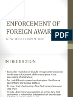 Enforcement of Foreign Award