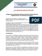 7. Norma Oficial Mexicana NOM 025 STPS 2008