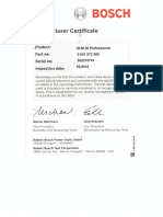 Certificacion Distanciometro