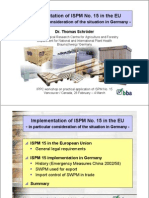 ISPM Implemetation in the EU