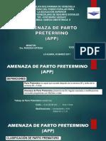 Amenaza de Parto Pretermino Yucelli Navas (1)