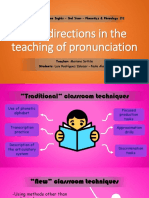 New Directions in the Teaching of Pronunctiation