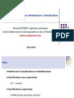 Applications en Télédétection Classification