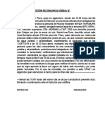 Acta Denuncia Verbal Por Subir Hospedaje Fantasia