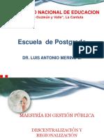 11.- Descentralización y Regionalización