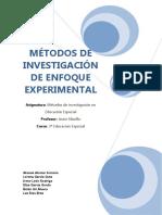 Metodos de Investigacion de Enfoque Experimental
