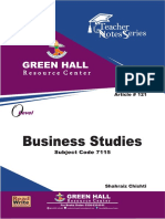 O Level Business Studies Notes
