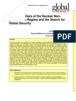The Eight Pillars of the Nuclear Non-proliferation Regime and the Search for Global Security