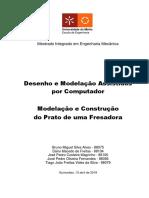 Relatório DMAC -Prato de Fresadora