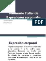 Seminario Taller de Expresiones Corporales