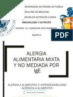 Alergia Mixta y No Mediada Por Ig