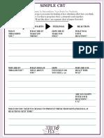 Simple CBT Self-Help Worksheet