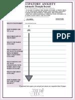 Anticipatory Anxiety Worksheets Self-help Worksheets
