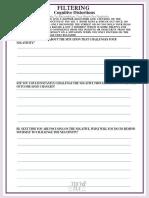 Filtering Self-Help Worksheet
