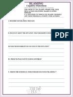 Blaming Self-Help Worksheet