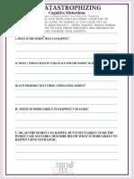 Decatastrophizing Self-Help Worksheet
