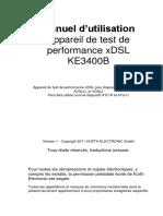 KE3400B Manuel d Utilisation