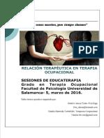 Relacion terapeutica en T.O