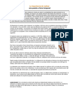 IMPORTANCIA DE LAS DESCARGAS ELÉCTRICAS -TIERRAS TEMPORARIAS