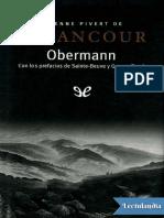 Obermann - Etienne de Senancour