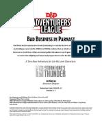 DDAL5-12 - Bad Business in Parnast