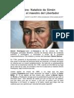 Reseña Historica Simon Rodriguez