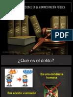 Delitos e infracciones en la administración pública