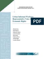 Urban informal workers