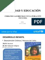 UNICEF Inequidad y Educacion
