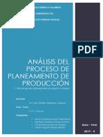 Análisis Del Proceso de Planeamiento de Prod.
