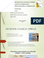 FILOSOFIA CLASICA GRIEGA