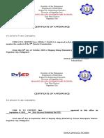 Certificate of Appearance Padilla
