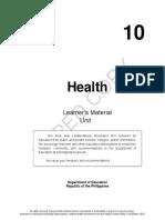 Grade 10 LM HEALTH 10 – Quarter 3