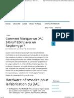 Comment Fabriquer Un DAC 24bits_192khz Avec Un Raspberry Pi _ - Hifi Lab