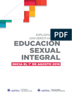 Diplomatura en Educacion Sexual Integral Universidad Austral 2019