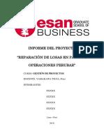 GESTIÓN POR PROYECTOS - MODELO DE INFORME