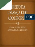 Direito Da Criança e Do Adolescente - Guarda