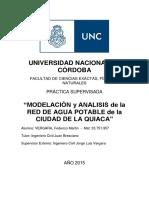 Modelación y Análisis de La Red de Agua Potable de La Ciudad de La Quiaca