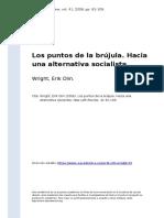 Wright, Erik Olin (2006). Los Puntos de La Brujula. Hacia Una Alternativa Socialista