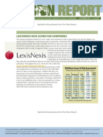 Nilson Report - LexisNexis Risk Score for Subprimes