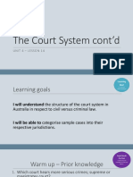 Lesson 14 the Court System Cont'd