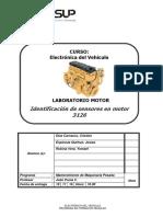 Identificaciones de Sensores y Partes Motor 3126
