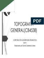 Topografía General(Cb4538) Clase 1