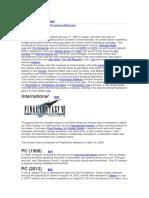THE HISTORY OF FFVII E